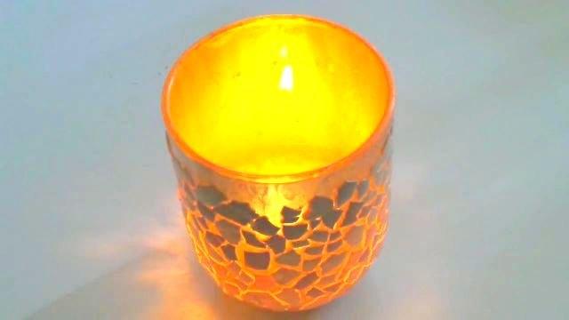 diy eggshell candle holder