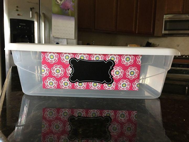 decorate plastic shoe boxes
