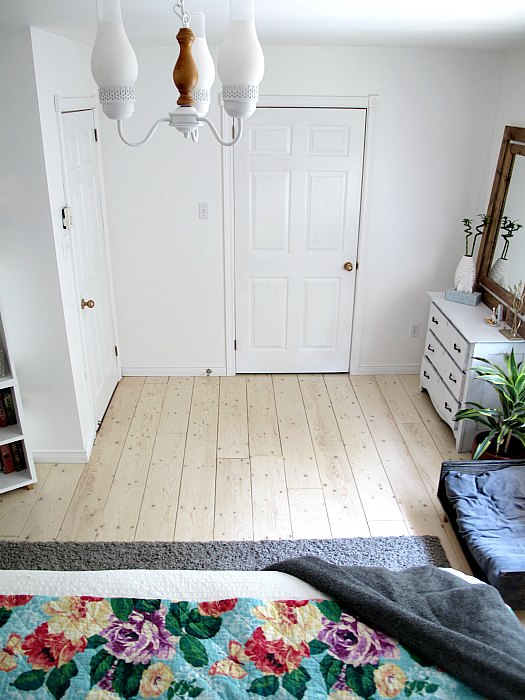 s 15 fabulous ways to pretty up your flooring for less, Line Up Plywood For Planking