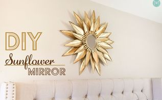 sunflower sunburst mirror made with cardstock