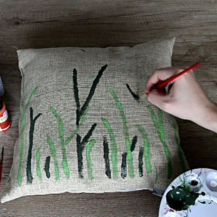diy pillow decoration how to make a painted accent pillow