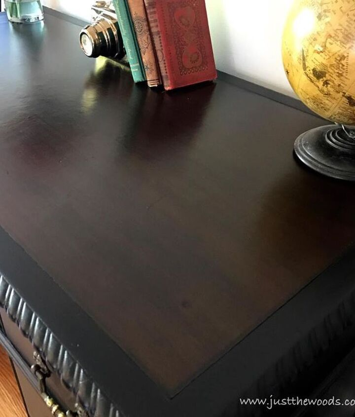 how to save the leather top on a vintage desk