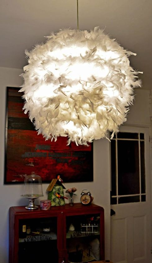 gorgeous ikea feather lamp hack