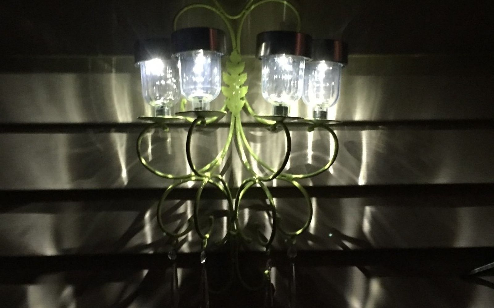 s 16 stunning ways for you to add solar lighting, Create A Neon Colored Chandelier