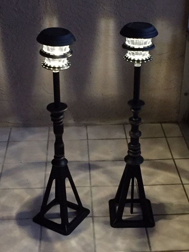 s 16 stunning ways for you to add solar lighting, Combine Solar With Jack Stands