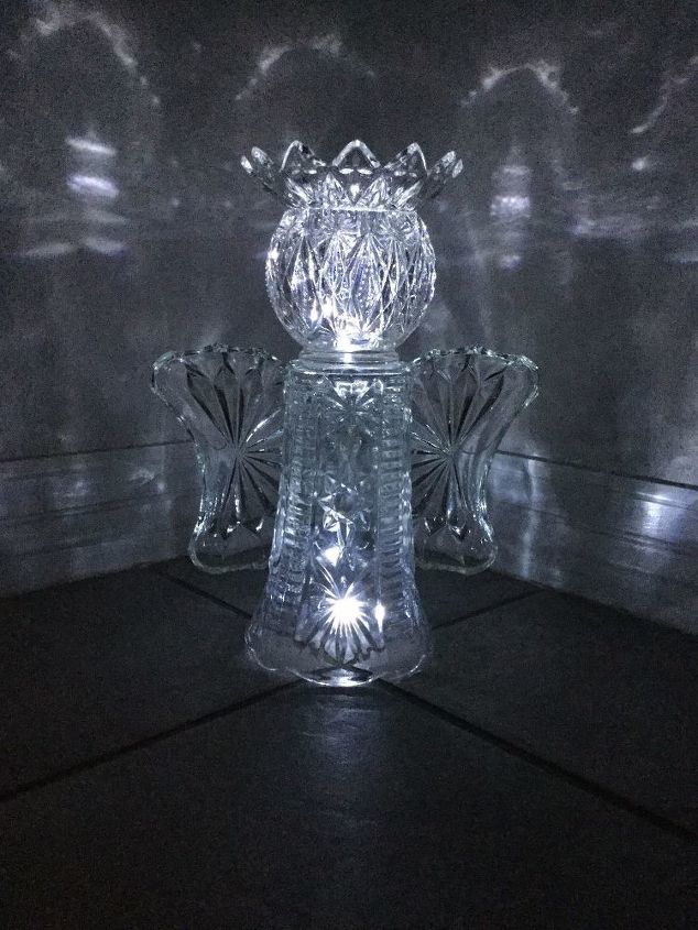 s 16 stunning ways for you to add solar lighting, Craft An Angel From Dishes