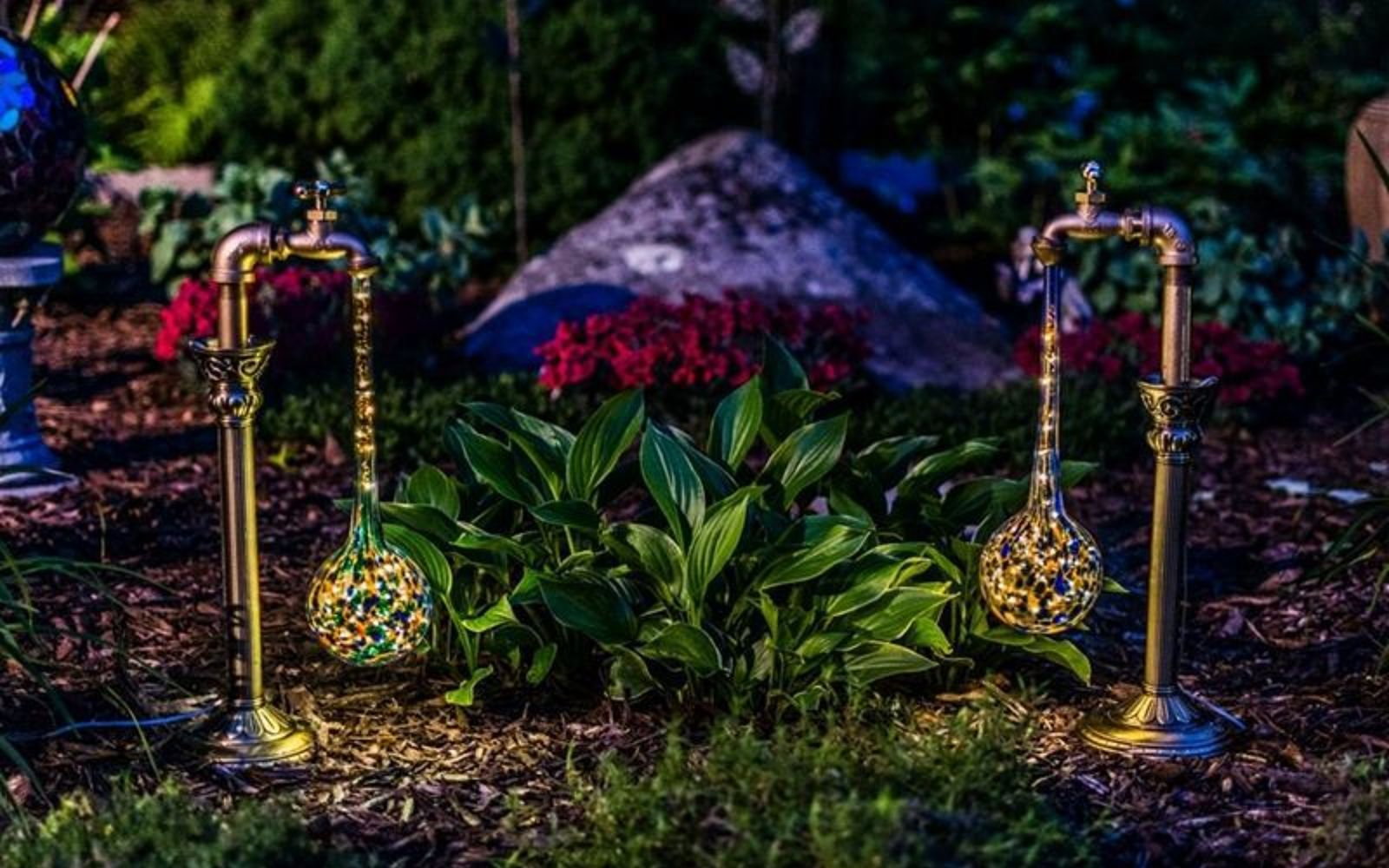 s 16 stunning ways for you to add solar lighting, Affix Multicolored Water Drops