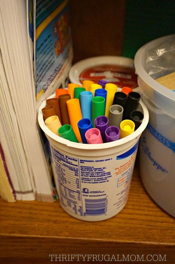 s 15 storage container ideas under 10, Clean Out Your Sour Cream Cup