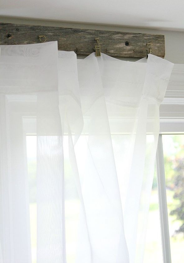 pallet curtain rods