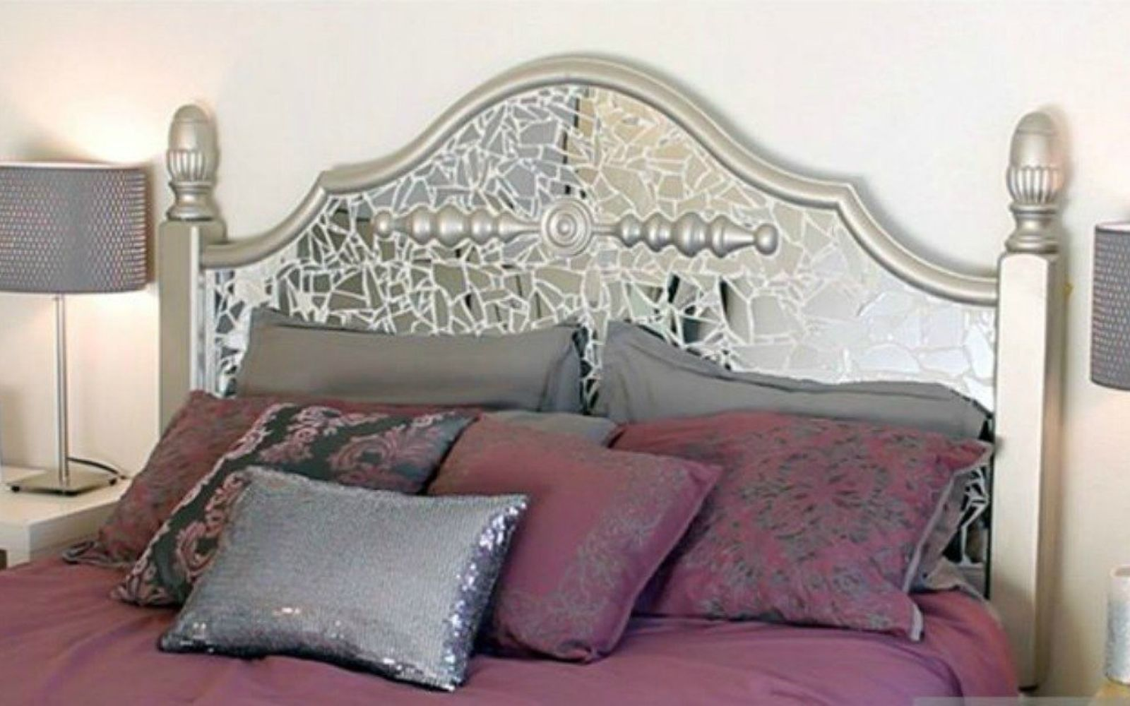 s these are the diy headboard ideas you ve been dreaming of, This mosaic mirror masterpiece