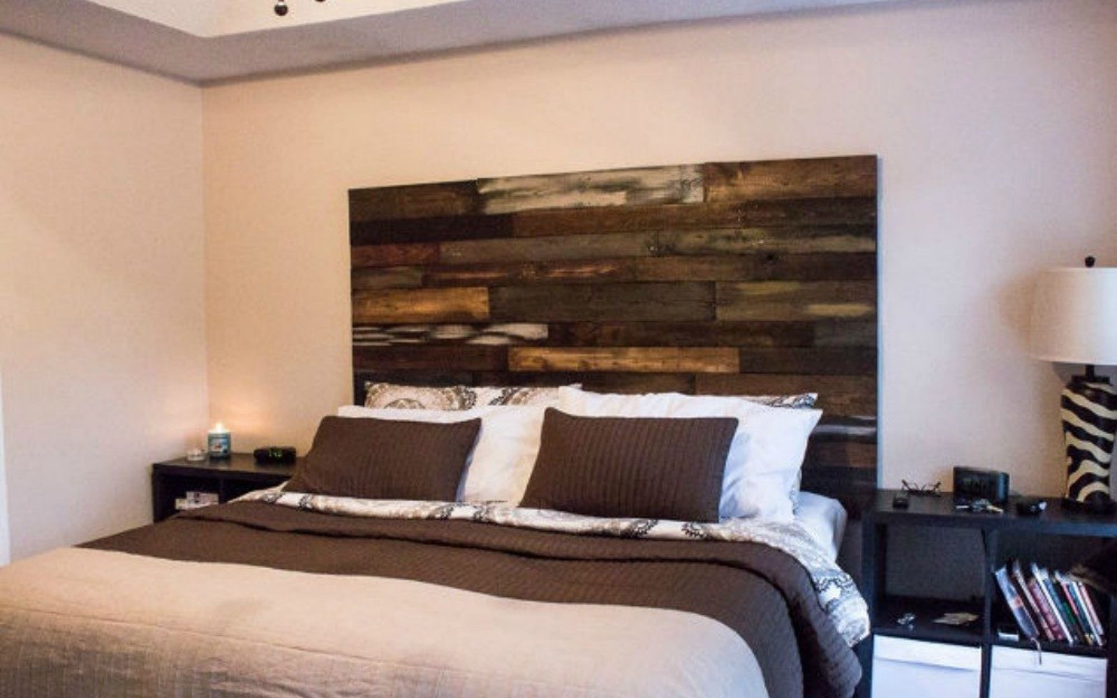 s these are the diy headboard ideas you ve been dreaming of, This stained pallet stunner