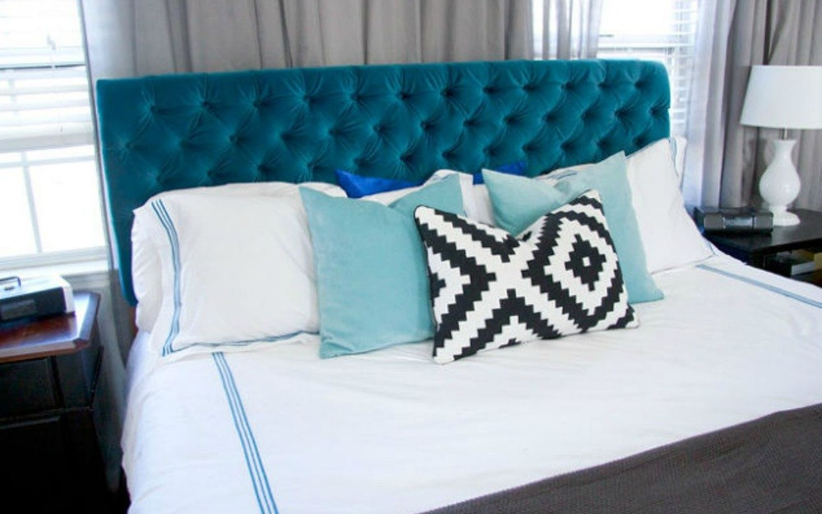 s these are the diy headboard ideas you ve been dreaming of, This velvety luxurious dreamboat