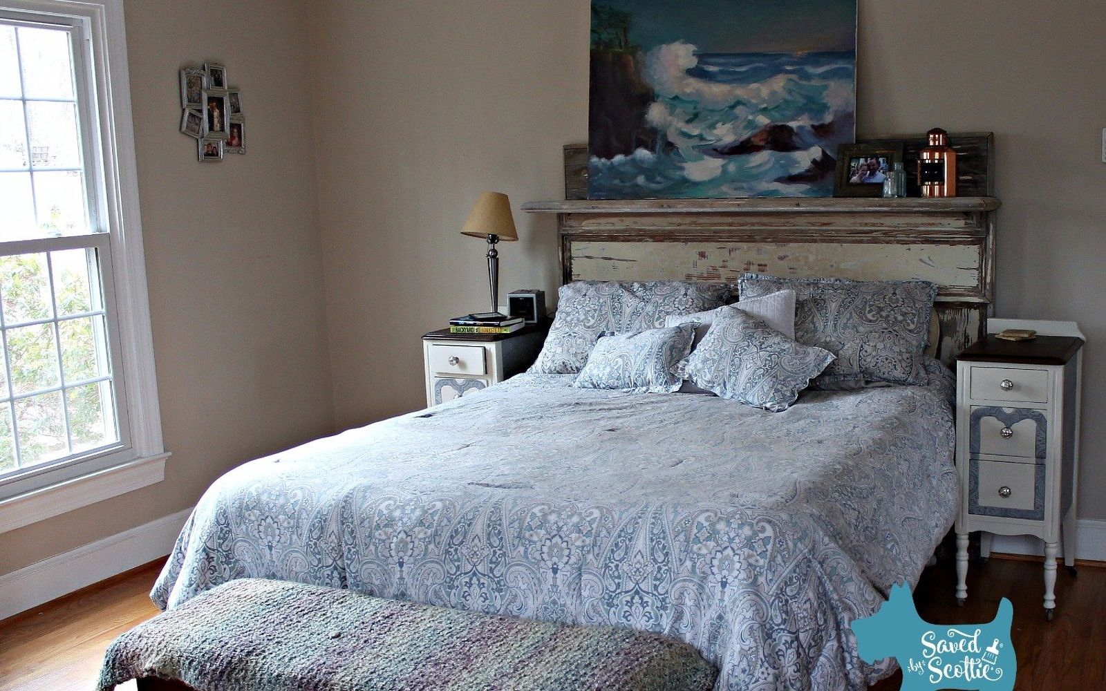 s these are the diy headboard ideas you ve been dreaming of, Upcycle An Old Fireplace Mantle