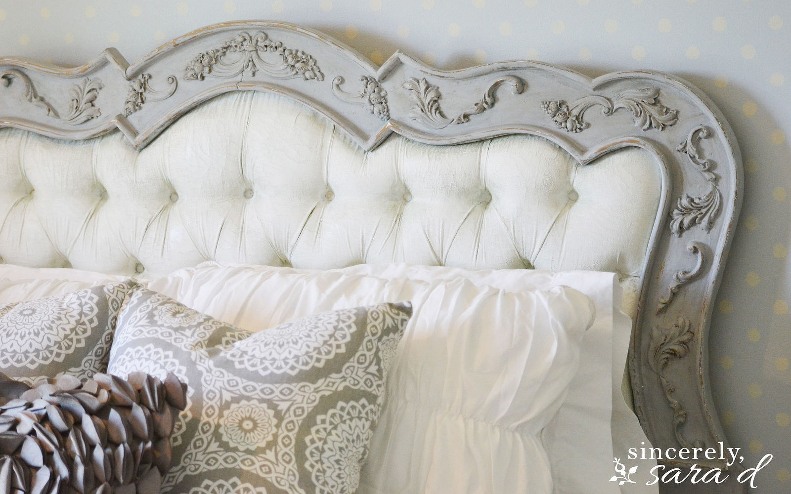 s these are the diy headboard ideas you ve been dreaming of, Chalk Paint This Luxurious Board