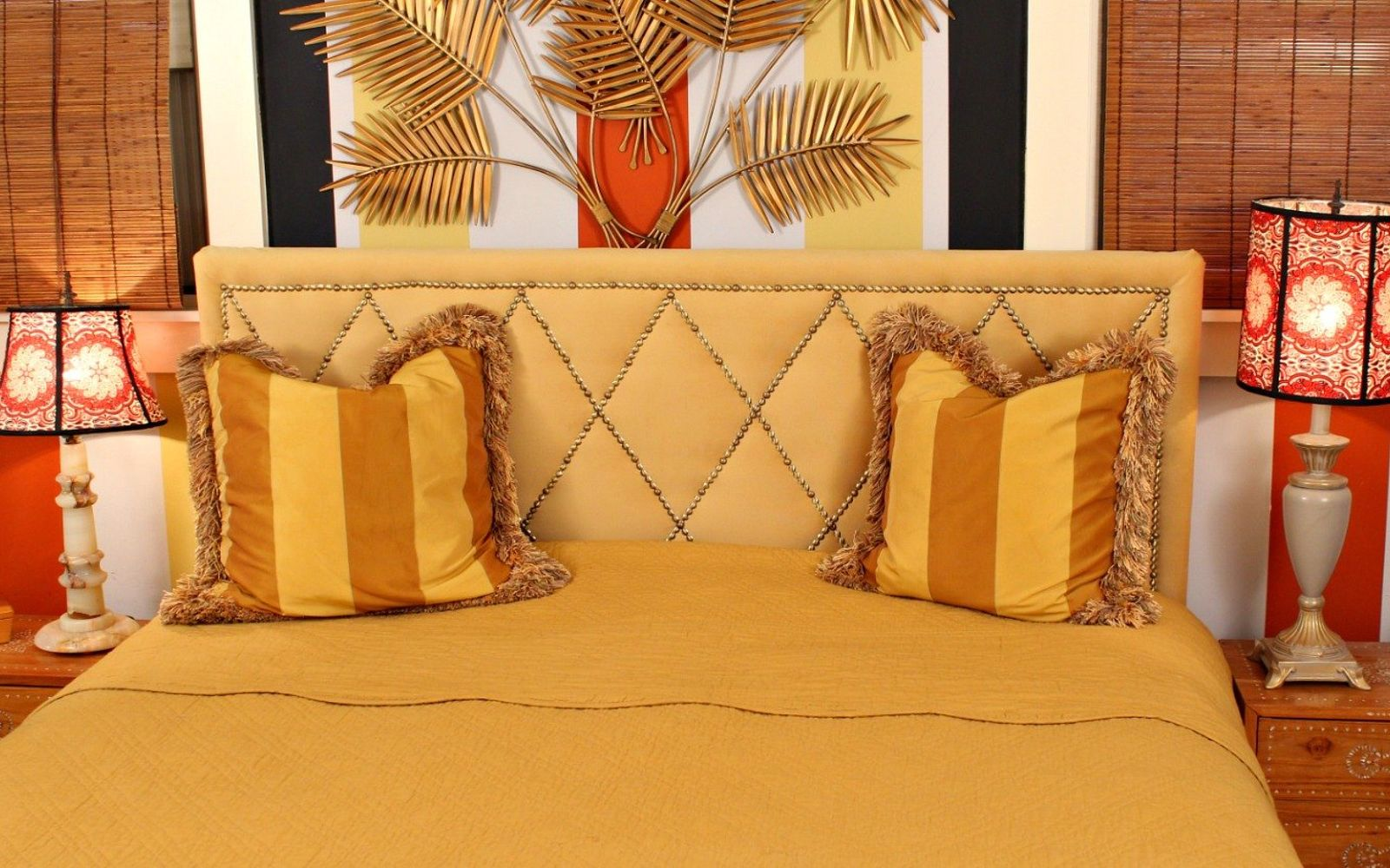 s these are the diy headboard ideas you ve been dreaming of, Or A Harlequin Nailhead Trim