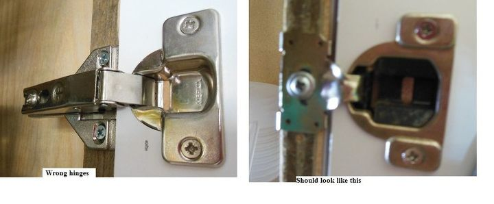 q can t find proper cabinet hinges what to do