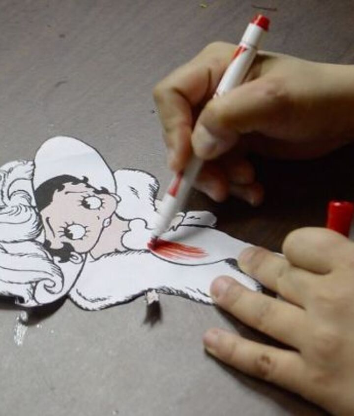U Paint|DIY|Ready To Paint|Plaster|PlasterCraft|ChalkWare|Flat Back Magnet|Character|Betty Boop Inspired