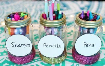 DIY Back to School Supplies 2017-2018! | DIY Pencil Cup Mason Jars!