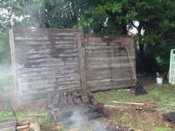 outback shack wall backyard