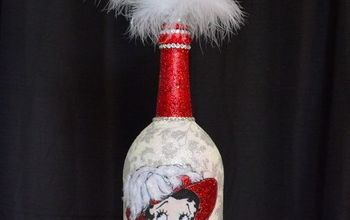 DIY Betty Boop Wine Bottle Upcycle | Decoupage