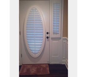 ... for those or make a template of that oval window choose the fabric and use small Velcro circles . Just a thought ? Hereu0027s what my friend has on hers.  sc 1 st  Hometalk & Oval door Window covering ideas?   Hometalk
