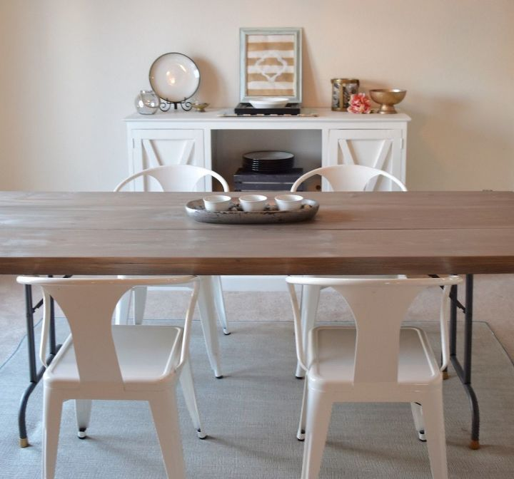 s 15 ways to diy your dream dining room table for half the price, Use An Affordable Folding Table