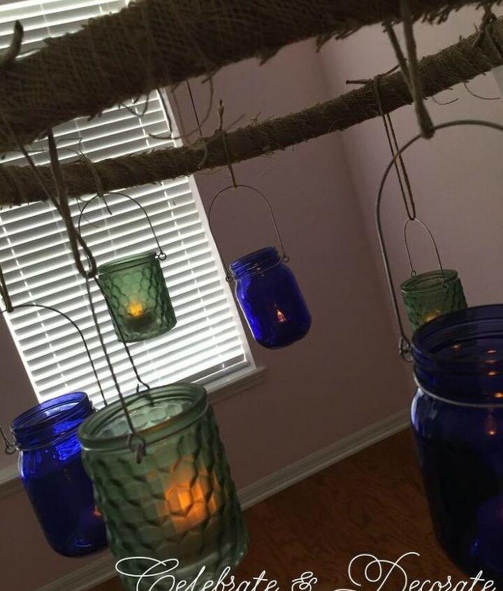dollar store outdoor chandelier