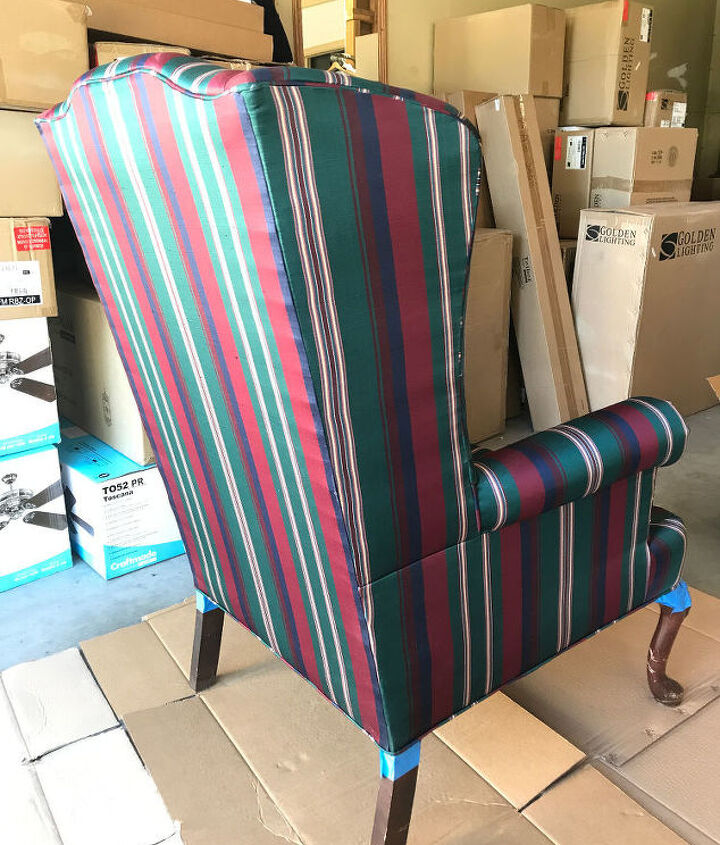 TAPE OFF THE CHAIR LEGS AND CUSHION AREA
