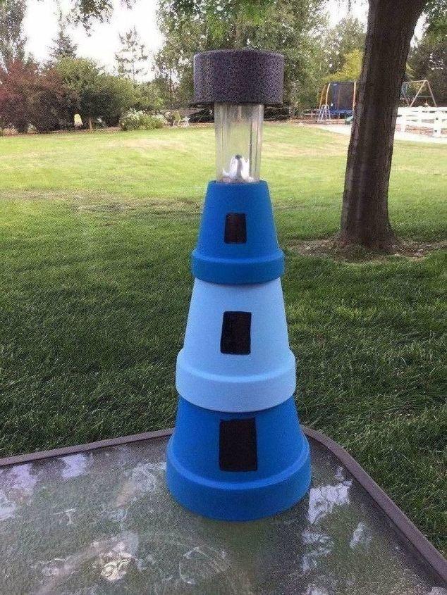 patio table lighthouse light