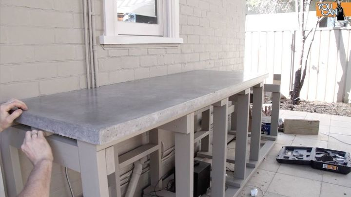 s 10 clever ways to use concrete for anything, Spread Concrete On Your Countertop
