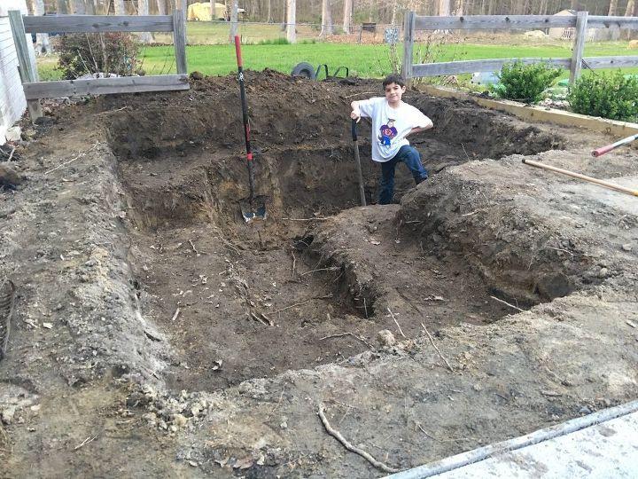 DIY Modern Backyard Koi Pond On A Budget   Hometalk on