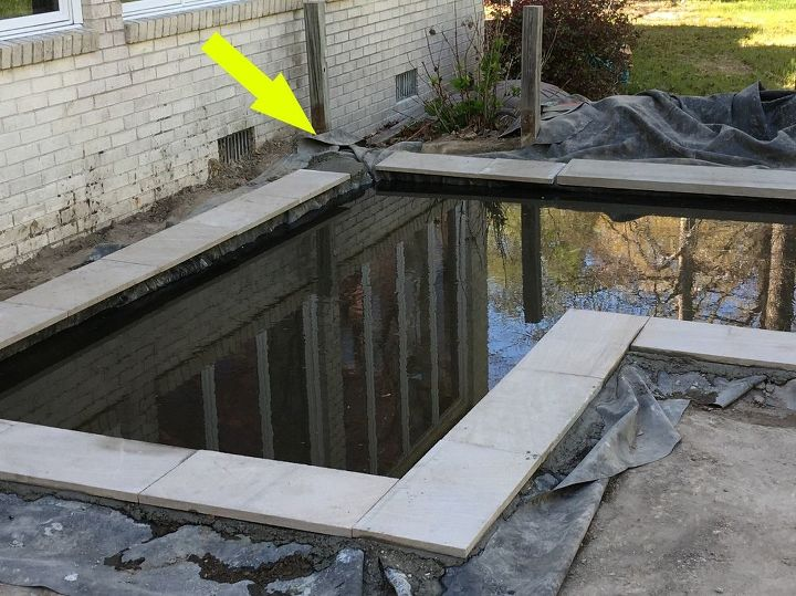 Diy concrete koi pond diy do it your self for How to build a koi pond on a budget