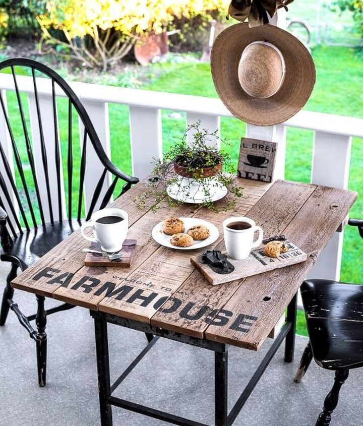 s add a hint of farmhouse style in your home with these ideas, This Patio Table