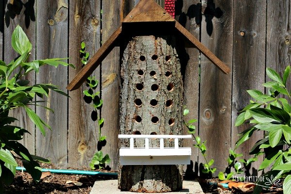 the unbeelievable bee house that hubby built