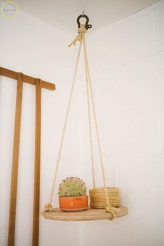 hanging circular shelf