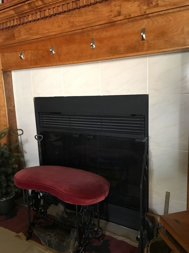 q help i have 80 s tile around my fireplace