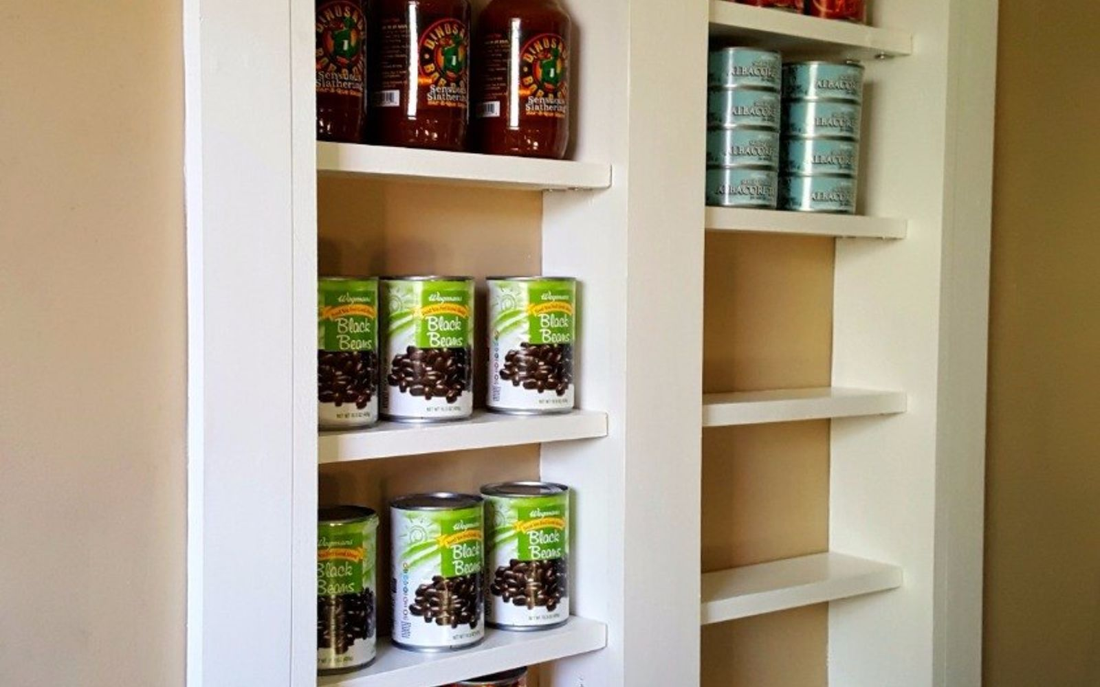 s 15 pinterest worthy pantries that eliminate search time for your favo, Build A Pantry Just Outside The Kitchen