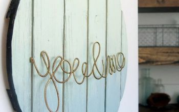 ombre painted wood sign