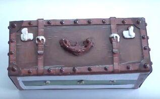 diy vintage suitcase planter