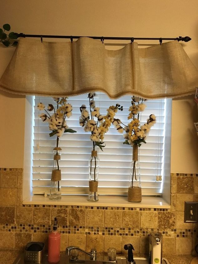 s 15 lovely valances that will make you feel accomplished, Hang Linen Placemats For A Rustic Look