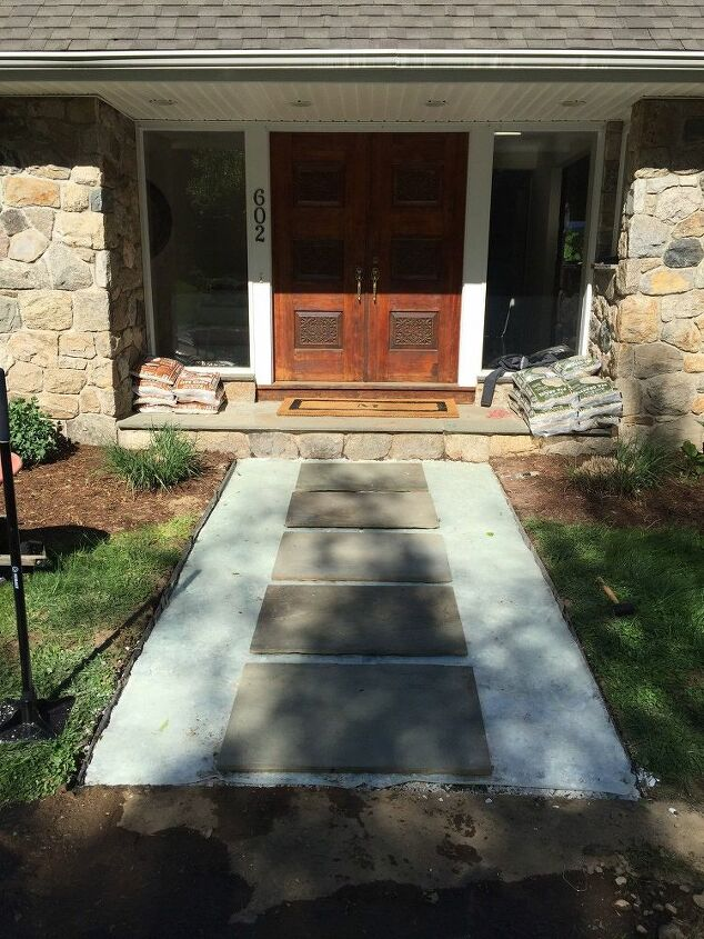 s 15 inexpensive tricks to help you landscape without stressing out, Distribute A Paver Base In A Grid