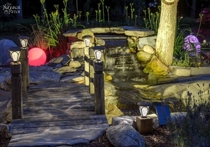 s 15 inexpensive tricks to help you landscape without stressing out, Haul Lumps Of Grass For A Pond