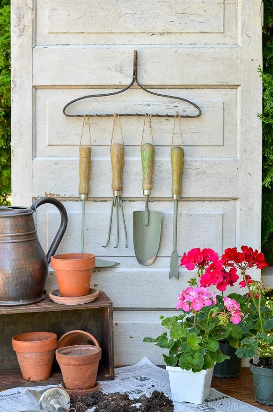 s 31 brilliant ways to repurpose everyday items into perfect organizers, Repurpose A Rake Into Garden Organization