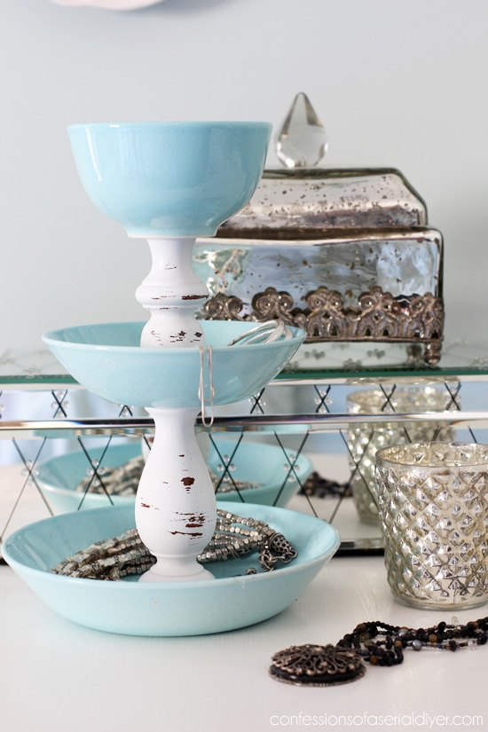 s 31 brilliant ways to repurpose everyday items into perfect organizers, Transform Dishes Into A Jewelery Organizer