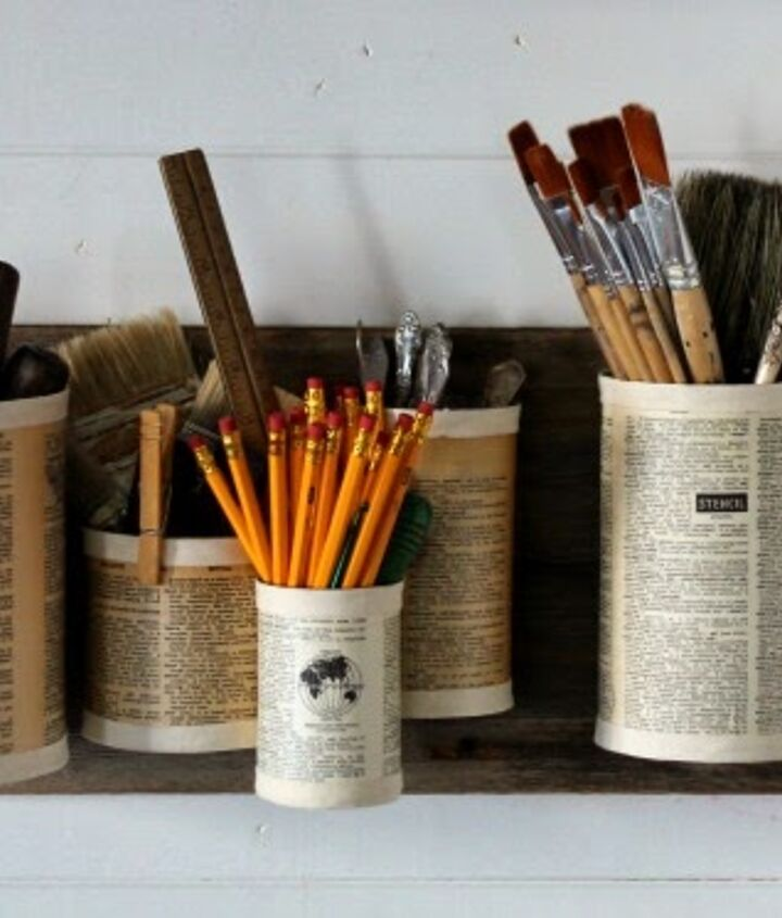 s 31 brilliant ways to repurpose everyday items into perfect organizers, Turn Tin Cans Into Wall Organizers
