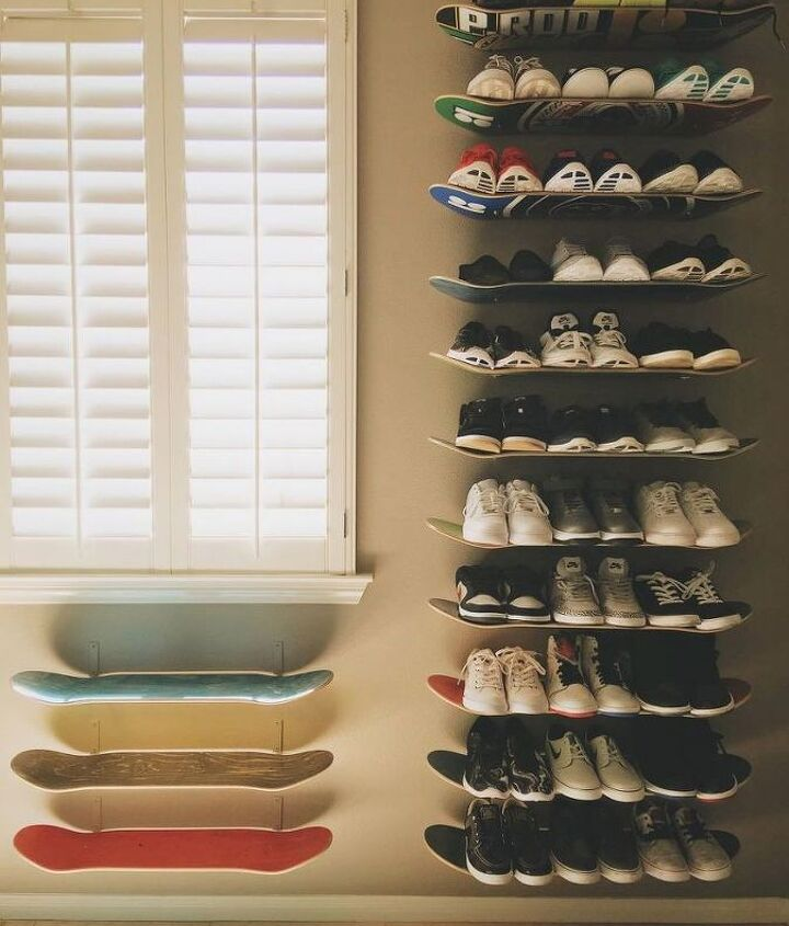 s 31 brilliant ways to repurpose everyday items into perfect organizers, Recycle Old Skateboards