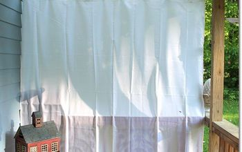 $20 Instant Porch Curtains With Shower Liners!