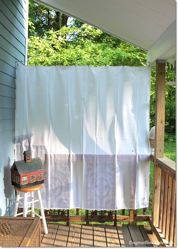 diy porch curtains with shower liners