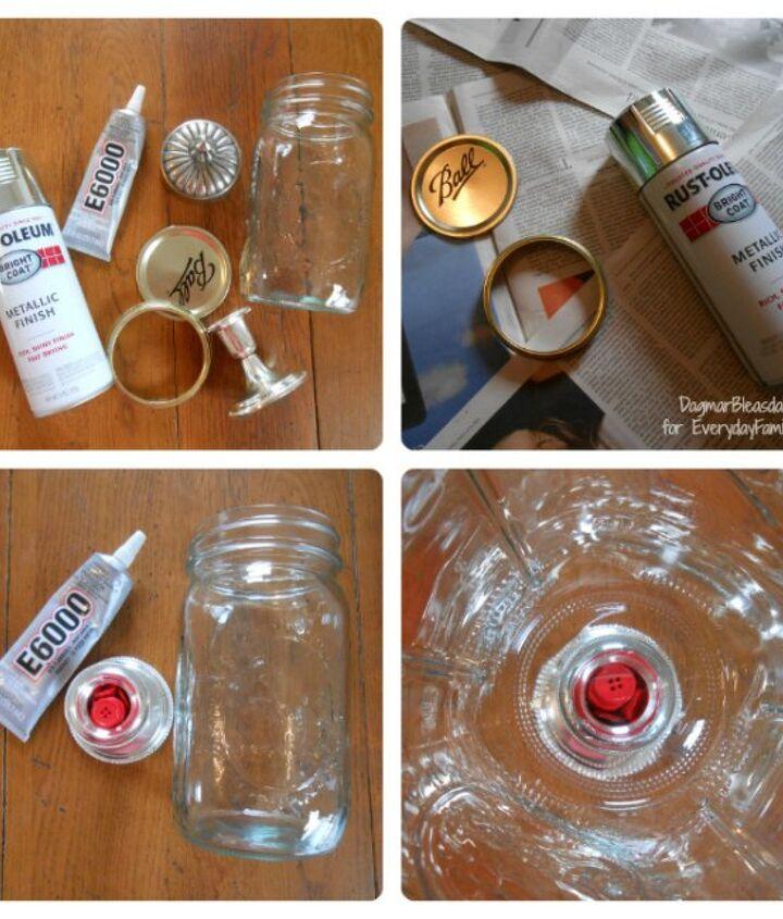 apothecary jar made with a mason jar