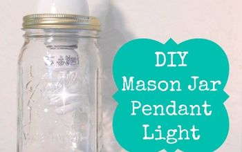 10 minutes mason jar pendant light